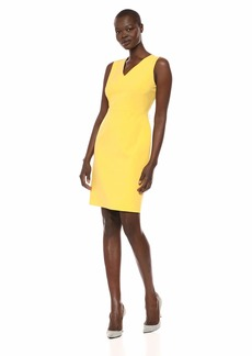 NINE WEST Women's V-Neck Solid Dress
