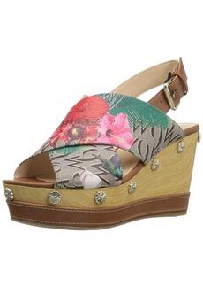 Nine West Women's Vanessa Synthetic Wedge Sandal