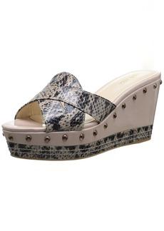 Nine West Women's Vida Synthetic Wedge Sandal