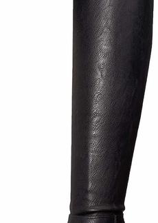 Nine West Women's WISEPLAY Synthetic Knee High Boot Black