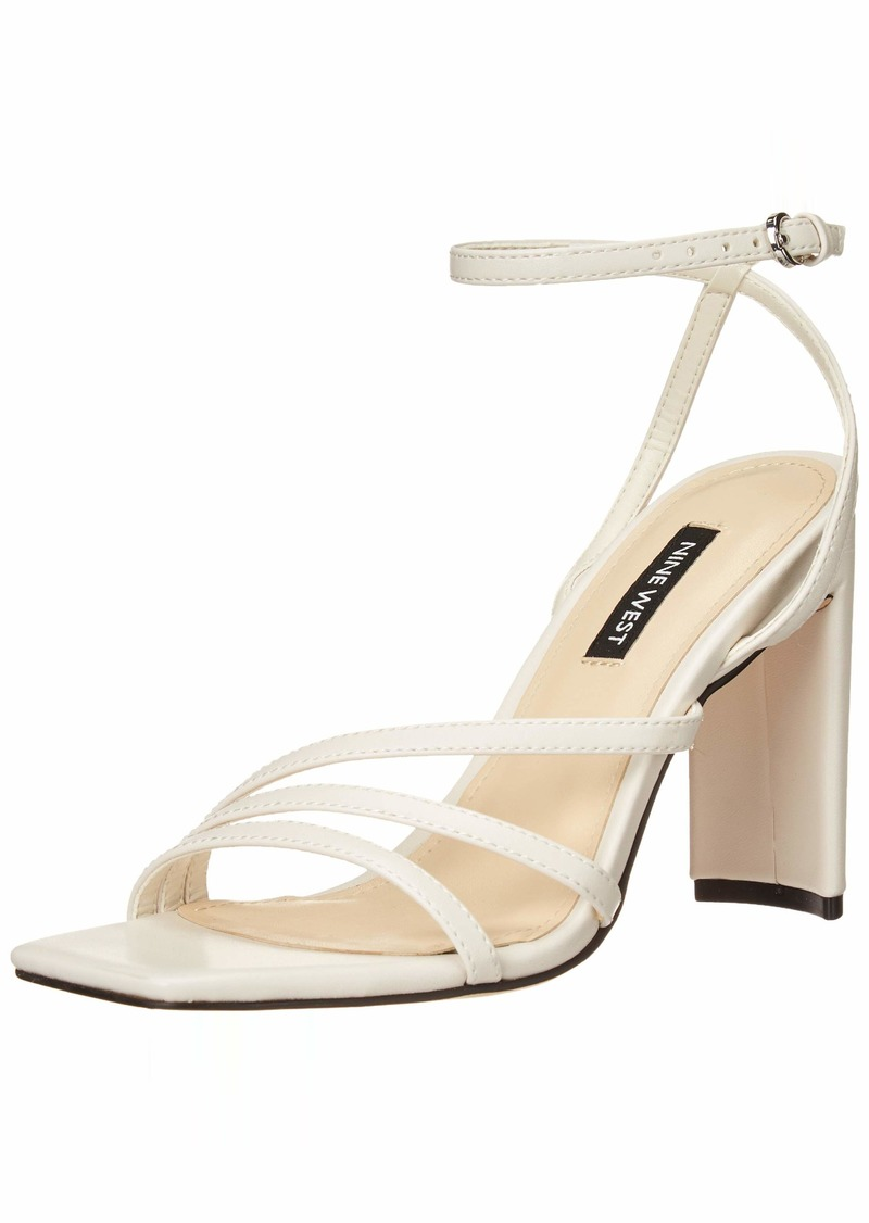 Nine West Women's Zelina3 Heeled Sandal IVORY