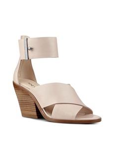 Nine West Yannah Leather Block Heel Sandals