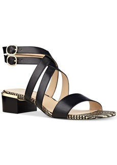 Nine West Yesta Block-Heel Strappy Dress Sandals Women's Shoes