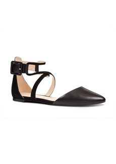 Nine West Zayday Ankle Strap Flat (Women)
