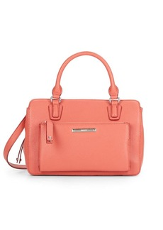 Nine West Zip N Go Faux Leather Satchel