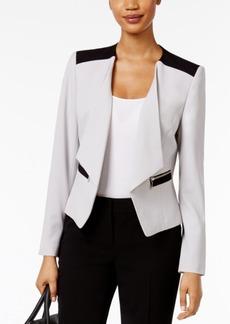 Nine West Zip-Pocket Blazer