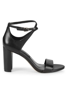 Nine West Nunzaya Crossover Ankle Strap Leather Sandals