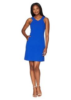 Nine West Shift Dress w/ Side Panels & Front Pockets