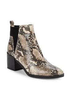 Nine West Snake-Embossed Ankle Boots
