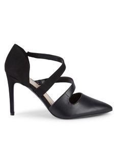 Nine West Strappy Point Toe Pumps