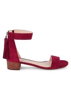 Nine West Tassel Stacked Heel d'Orsay Sandals