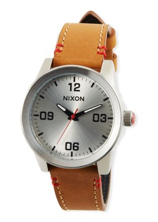 Nixon 36mm G.I. Leather Watch