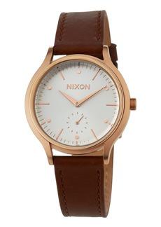 Nixon 38mm Sala Leather Watch