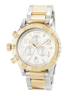 Nixon 42mm 42-20 Chrono Bracelet Watch