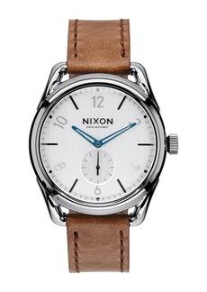 Nixon C39 Swiss Quartz Leather Strap Watch, 39mm