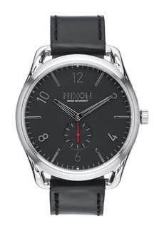 Nixon Men's C45 Miyota Quartz Leather Strap Watch, 45mm