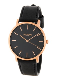Nixon Men's Porter Leather Watch, 40mm