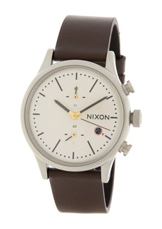 Nixon Men's Station Leather Chronograph Watch, 41mm