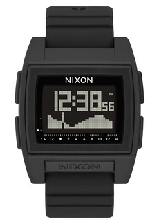 Nixon Base Tide Pro Digital Silicone Strap Watch, 42mm