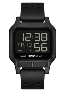 Nixon Heat Digital Rubber Strap Watch