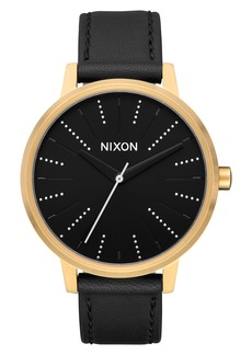 Nixon Kensington Leather Strap Watch, 37mm