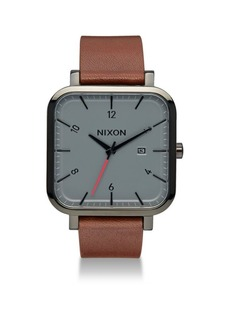Nixon Leather Strap Watch