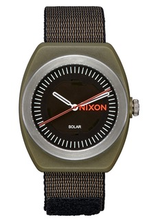 Nixon Light-Wave Solar Nylon Strap Watch, 36mm