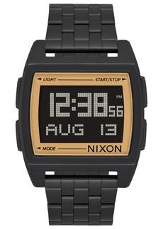 Nixon Men's Digital Base Black Stainless Steel Bracelet Watch 38mm