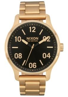 Nixon Men's Patrol Stainless Steel Bracelet Watch 42mm
