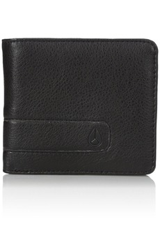 Nixon Young Men's Showoff Bi-fold Wallet Accessory all black  Fits All