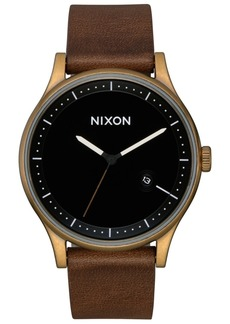 Nixon Men's Station Leather Strap Watch 41mm