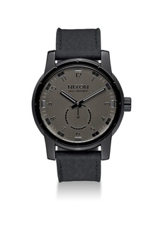 Nixon Patriot Stainless Steel & Leather Strap Watch