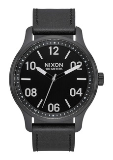 Nixon Patrol Leather Strap Watch, 42mm