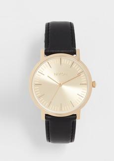 Nixon Porter Leather Watch, 41mm