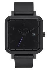 Nixon 'Ragnar' Leather Strap Watch, 36mm