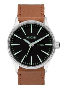 Nixon Stainless Steel & Leather Watch