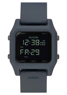 Nixon Staple Digital Rubber Strap Watch