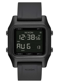 Nixon Staple Digital Silicone Strap Watch, 39mm