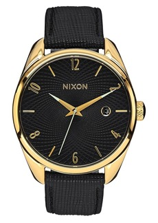 Nixon 'The Bullet' Leather Strap Watch, 38mm