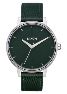 Nixon The Kensington Leather Strap Watch, 37mm