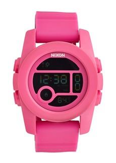 Nixon 'The Unit 40' Round Digital Watch, 40mm