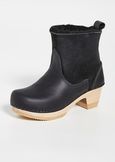 No.6 Pull On Shearling Mid Heel Boots