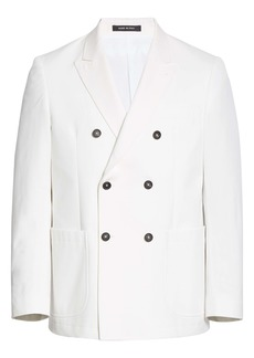 Noah Double Breasted White Cotton Sport Coat (Nordstrom Exclusive)