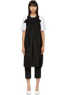 Noir Black Apron Dress