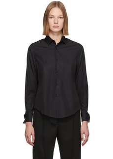 Noir Black Cotton Cufflink Shirt