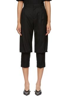 Noir Black Double Layer Trousers