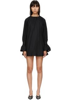 Noir Black Gathered Dress