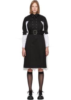 Noir Black Harness Back Trench Coat