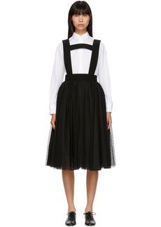 Noir Black Lace & Tulle Suspender Skirt