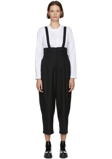 Noir Black Raised Suspender Trousers